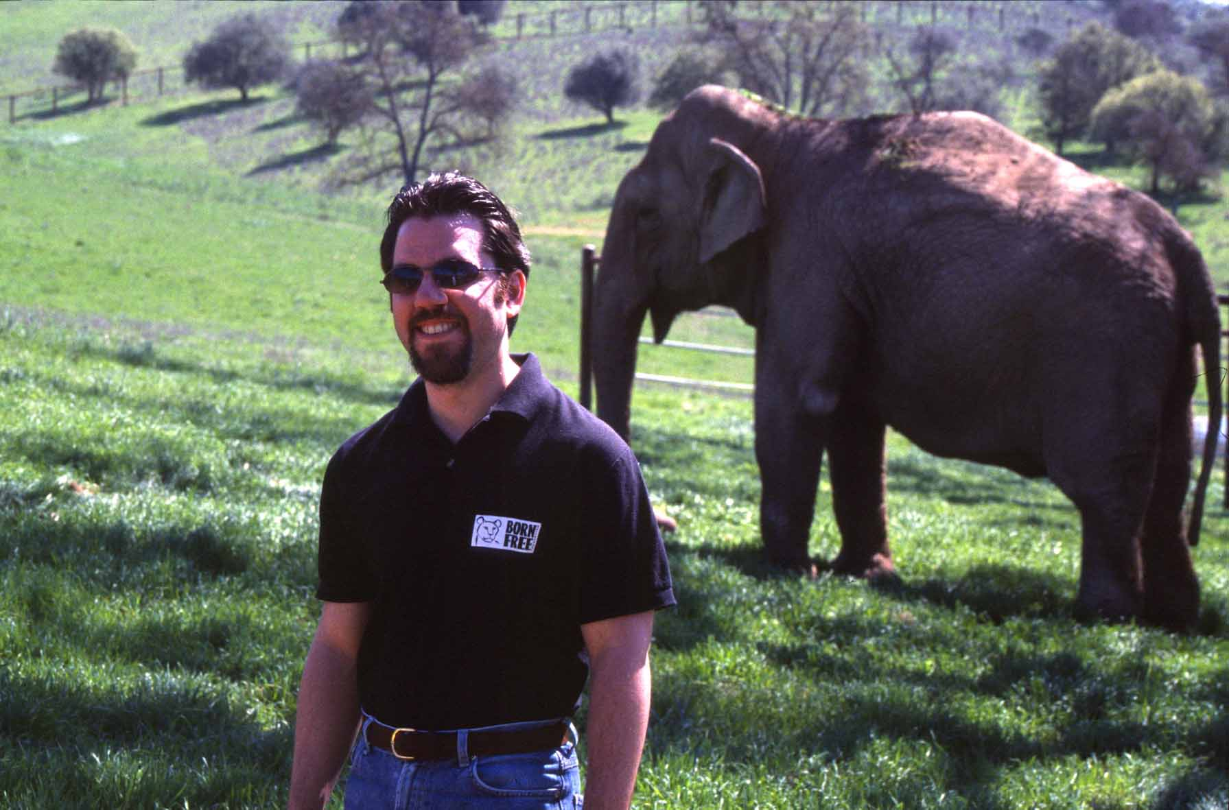 Adam Roberts CEO of BORN FREE USA at PAWS elephant sanctuary in California