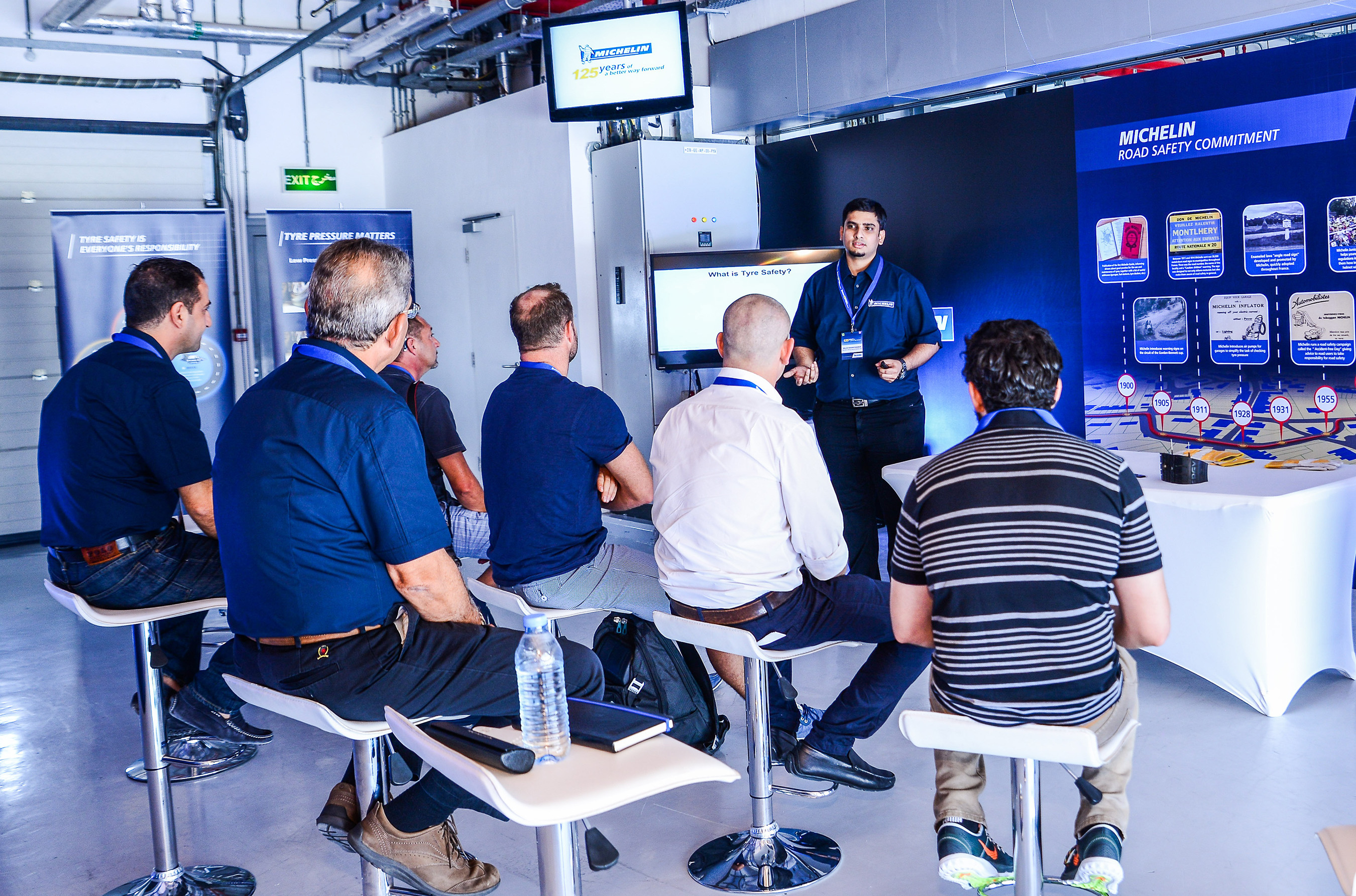 michelin celebrates 125 years of quality safety and excellence at abu dhabi s yas marina