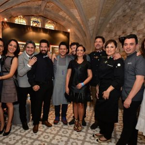 Mexico's Secretary of Tourism, Claudia Ruiz Massieu with the country's top chefs celebrating three restaurants in the prestigious World's 50 Best Restaurants list announced Monday night at London's Guildhall. Left to right: Jorge Vallejo (Quintonil), Judith Medrano Rayas, Mikel Alonso (Biko), Israel Diaz, Angel Vazquez (Intro), Gerard Bellver (Biko), Claudia Ruiz Massieu, Miguel Angel Guerrero (La Querencia), Judith Madrano Rayas (La Querencia), Edgar Nunez (SUD 777), Elena Reygadas (Rosetta)