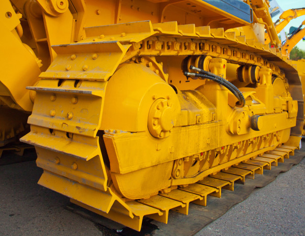 New heavy duty Caterpillar at the exhibition