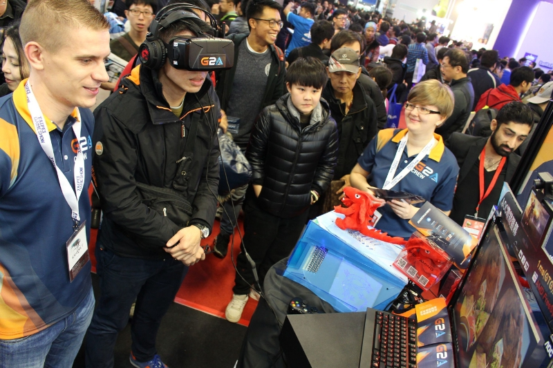 Wherever the G2A Land Road Show goes, there is a queue of interested gamers and guests who want to experience 3D, many for the first time. (PRNewsFoto/G2A.com)